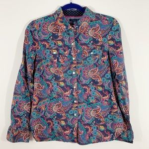 Tommy Hilfiger . Paisley Print Button Front Shirt